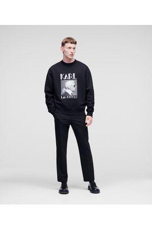 Karl Lagerfeld INTARSIA DETAIL PANTS