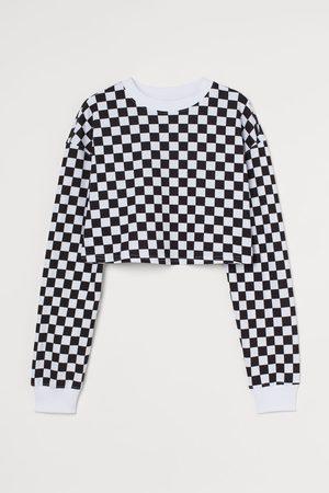 H&M Long-sleeved Crop Top