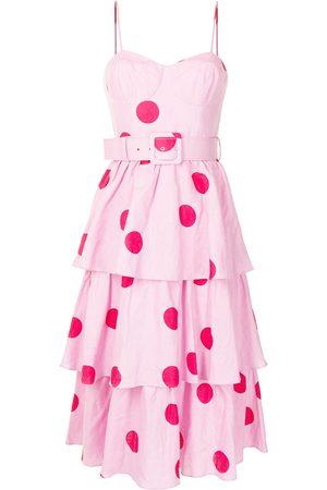 Rebecca Vallance Women Midi Dresses - Dalia tiered midi dress