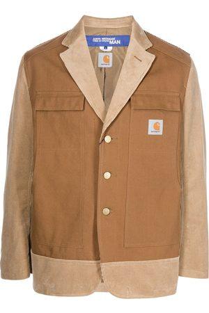 Junya Watanabe MAN Two-tone corduroy-panel blazer