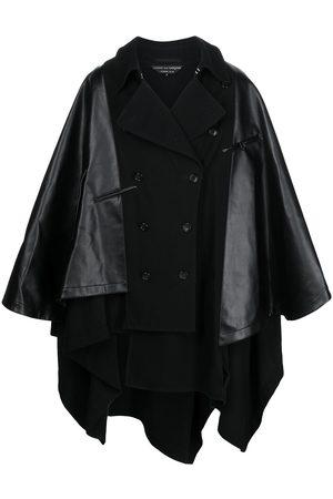 Comme Des Garçons Homme Plus Men Coats - Cape-style contrast double-breasted coat