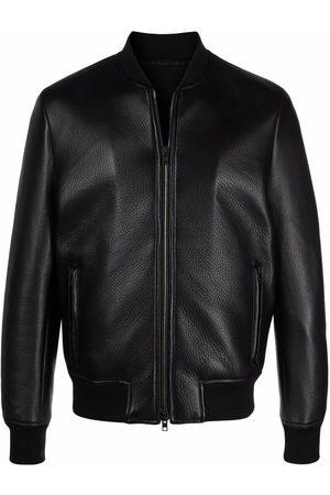 SALVATORE SANTORO Men Leather Jackets - Zip-up leather bomber jacket