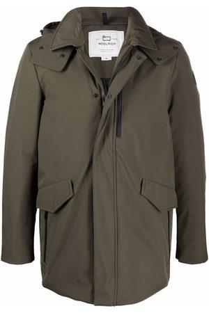 Woolrich Men Parkas - Hooded mid-length coat