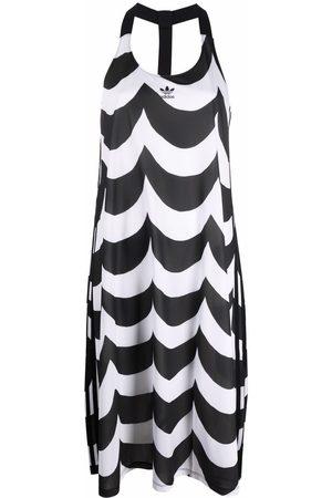adidas Women Printed Dresses - Scalloped-print dress
