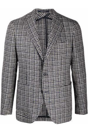 Tagliatore Fitted check-print blazer