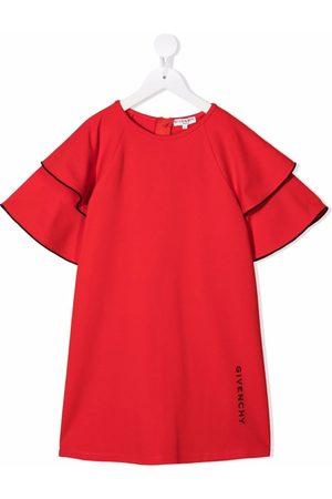Givenchy Girls Printed Dresses - Logo-print ruffled dress