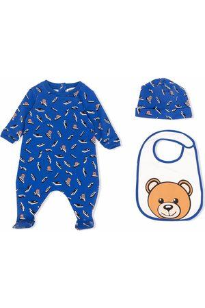 Moschino Teddy bear-print romper set