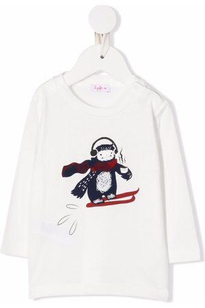 Il gufo Graphic-print crew neck sweatshirt