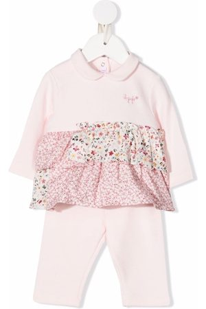Il gufo Floral-detail ruffled tracksuit set