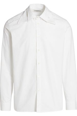 VALENTINO Men Shirts - Detachable Collar Poplin Shirt
