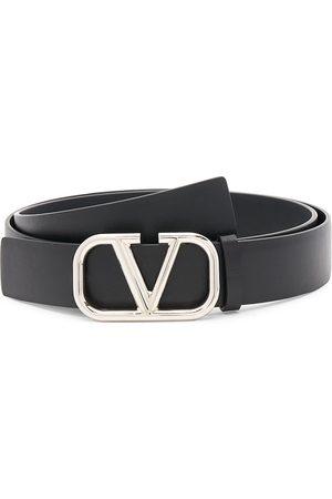 VALENTINO GARAVANI Men Belts - V Logo Buckle Leather Belt