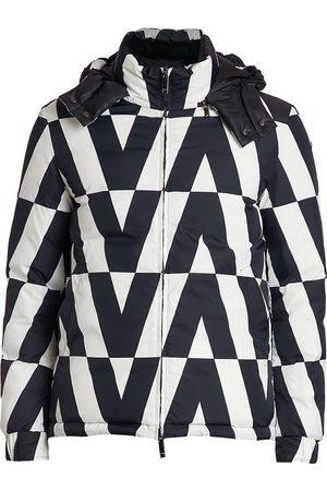 Valentino Men Puffer Jackets - Logo-Print Puffer Coat