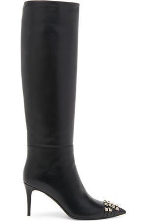 Valentino Garavani Women Thigh High Boots - Rockstud Alcove Leather Knee-High Boots