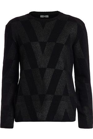 Valentino Men Sweatshirts - Tonal Logo-Print Sweater