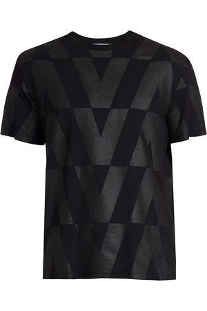 Valentino Men T-shirts - Optical Boxy V-Logo T-Shirt
