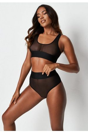 Missguided Mesh Thick Elasticated Waist Bralette