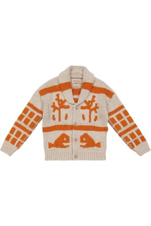 The Animals Observatory Raven Fish and Tress wool-blend cardigan