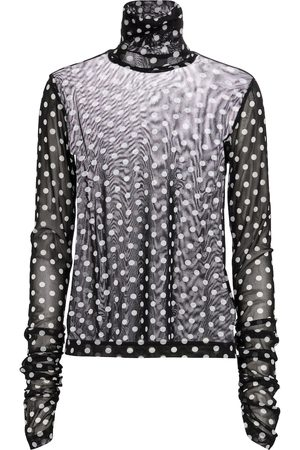NOIR KEI NINOMIYA Women Long sleeves - Long-sleeved polka-dot turtleneck top