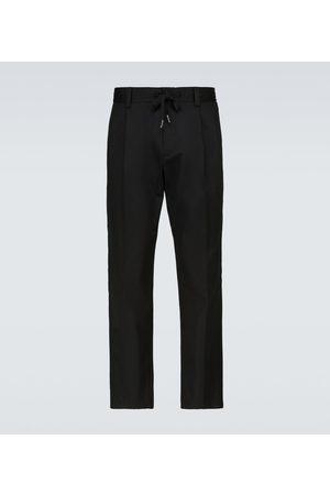 Dolce & Gabbana Men Pants - Drawstring cotton-blend pants