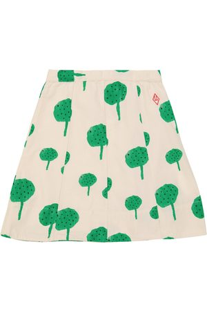 The Animals Observatory Kids Printed Skirts - Swan printed cotton skirt
