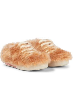 The Animals Observatory Bunny shearling lace-up sneakers