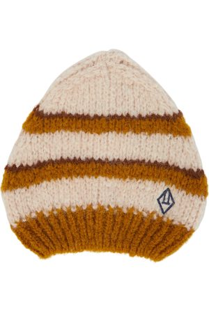 The Animals Observatory Stripes Pony wool-blend beanie