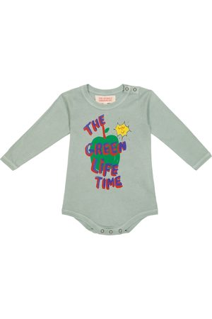 The Animals Observatory Baby long-sleeved cotton bodysuit