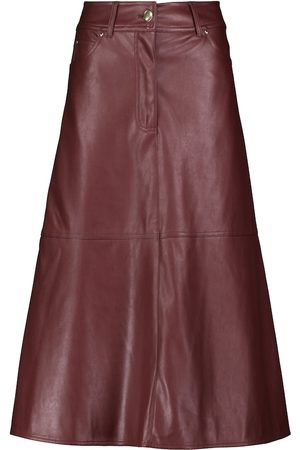 Stand Studio Riley faux leather midi skirt
