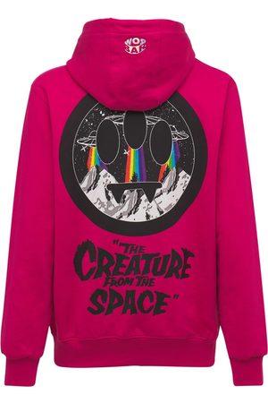 BARROW Men Hoodies - Creature Of The Space Logo Cotton Hoodie