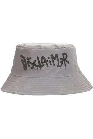 DISCLAIMER Reflective Logo Printed Bucket Hat