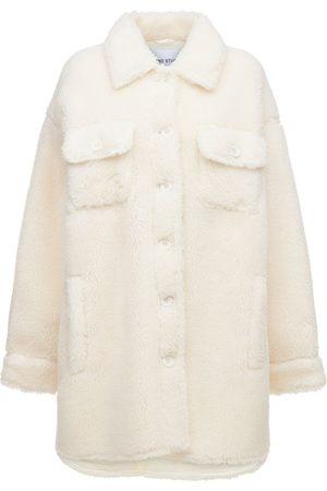 Stand Studio Women Fleece Jackets - Sabi Faux Fur Teddy Shirt Jacket
