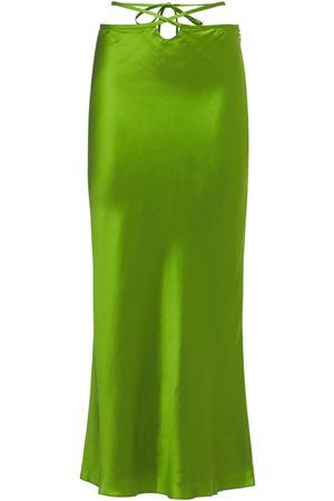 CHRISTOPHER ESBER Silk Satin Skirt