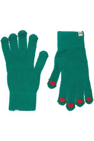 Bobo Choses Boys Gloves - Intarsia Wool Blend Knit Gloves