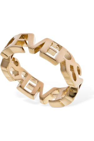 VERSACE Women Rings - Logo Lettering Thick Ring