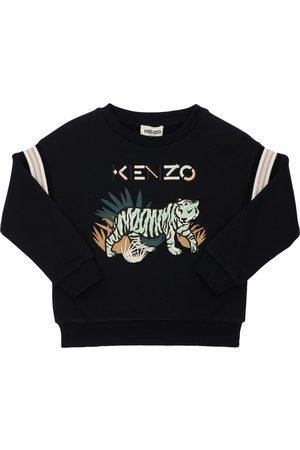 Kenzo Boys Sweatshirts - Embroidered Cotton Blend Sweatshirt
