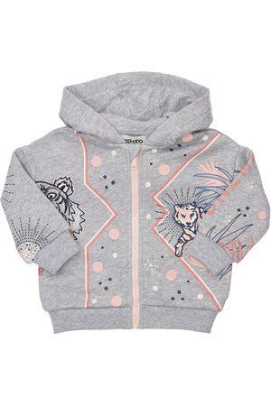 Kenzo Printed Zip-up Cotton Sweatshirt Hoodie