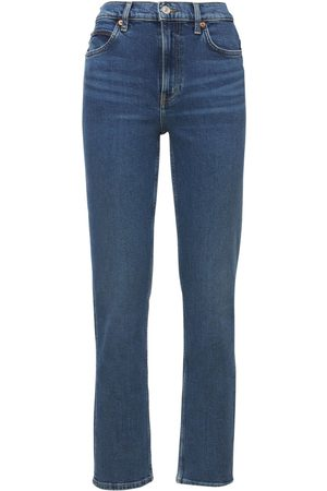 RE DONE Women High Waisted - 70s High Rise Straight Jeans