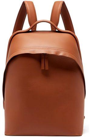BONASTRE Men Rucksacks - Leather Backpack - Mens - Tan