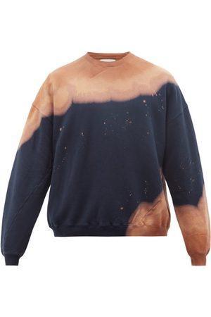 Noma T.d Tie-dye Cotton-jersey Sweatshirt - Mens - Navy