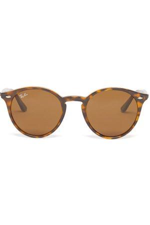Ray Men Round - Ban - Round Tortoiseshell-acetate Sunglasses - Mens - Tortoiseshell