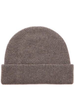Raey Men Beanies - Knitted Recycled-cashmere Blend Beanie - Mens - Charcoal