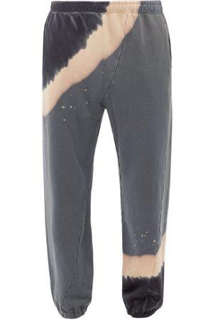 NOMA t.d. Men Sweatpants - Tie-dye Cotton-jersey Track Pants - Mens - Grey