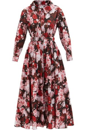 Erdem Women Printed Dresses - Darcie Giselle Floral-print Cotton-poplin Dress - Womens