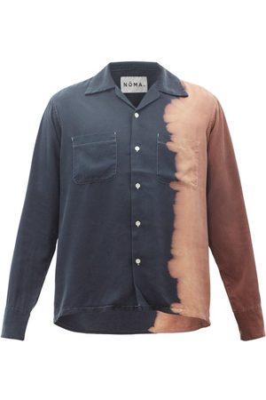 Noma T.d. Tie-dye Cuban-collar Shirt - Mens - Navy