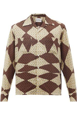 Noma T.d Men Shirts - Rhythm Diamond-print Rexcell Shirt - Mens