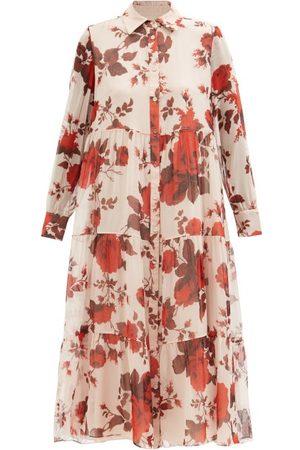 Erdem Alyce Fonteyn Tiered Silk-chiffon Midi Dress - Womens