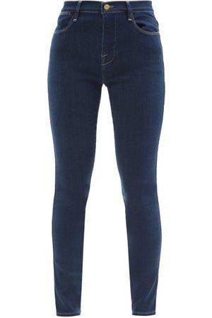 Frame Women High Waisted - Le High Skinny Cropped Jeans - Womens - Dark Denim