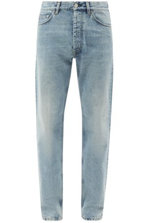 Sunflower Light-wash Organic-cotton Straight-leg Jeans - Mens - Light