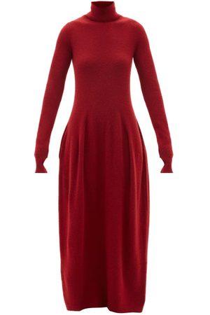PETAR PETROV Aza Roll-neck Cashmere-blend Dress - Womens - Burgundy