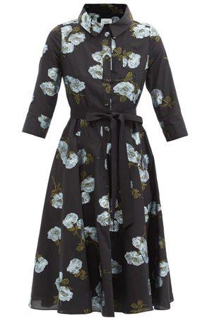 Erdem Margot Floral-embroidered Midi Shirt Dress - Womens
